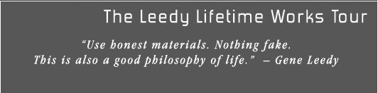 The Leedy Lifetime Works Tour